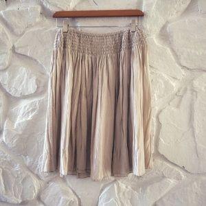 New York And Company Elastic Band Midi Skirt Sz S